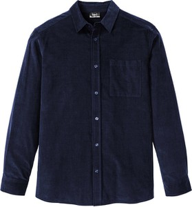 Niebieska koszula bonprix bpc bonprix collection z długim rękawem