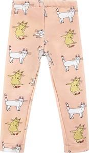 Różowe legginsy dziecięce Benni dla dziewczynek z dzianiny