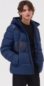 Granatowa kurtka Sinsay w stylu casual