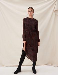 Sukienka Sinsay w stylu casual maxi z okrągłym dekoltem