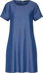 Niebieska sukienka Opus w stylu casual z krótkim rękawem