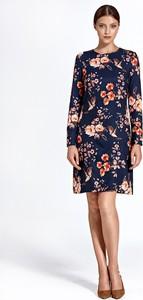 Sukienka Colett z długim rękawem z okrągłym dekoltem mini