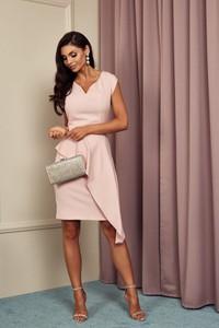 Różowa sukienka Marconi asymetryczna