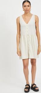 Sukienka Vila mini z lnu na ramiączkach