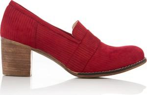 Czerwone czółenka Zapato ze skóry
