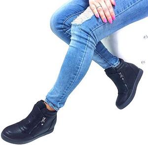 Sneakersy HAVER na koturnie na zamek