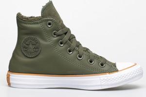 Zielone trampki Converse wysokie z płaską podeszwą