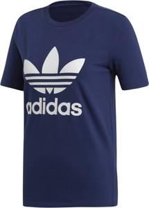Niebieska bluzka Adidas z bawełny