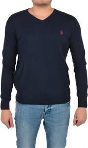 Sweter U.S. Polo w stylu casual z wełny