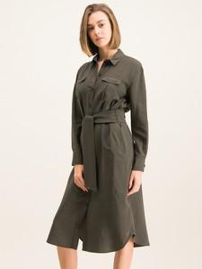 Sukienka Tommy Hilfiger z długim rękawem koszulowa