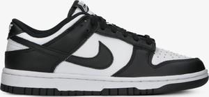 Czarne buty sportowe Adidas sznurowane z płaską podeszwą ze skóry