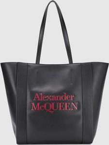 Torebka Alexander McQueen na ramię duża ze skóry