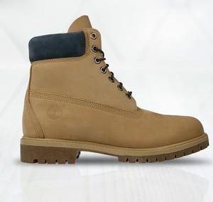 Brązowe buty zimowe Timberland z nubuku sznurowane