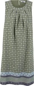 Sukienka bonprix bpc bonprix collection midi z okrągłym dekoltem koszulowa