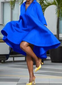 Niebieska sukienka Cikelly mini
