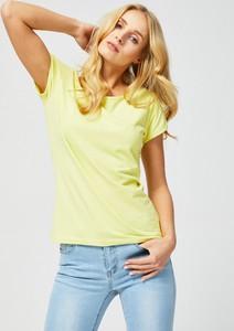 T-shirt Moodo z okrągłym dekoltem w stylu casual z krótkim rękawem