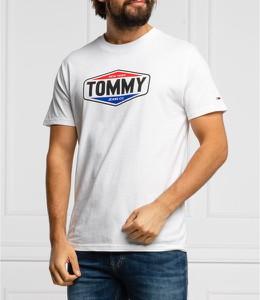 T-shirt Tommy Jeans w młodzieżowym stylu z bawełny z krótkim rękawem