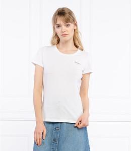 Bluzka Pepe Jeans z okrągłym dekoltem w stylu casual