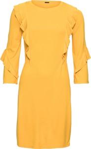 Żółta sukienka bonprix BODYFLIRT w stylu casual