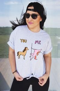 T-shirt Time For Fashion z krótkim rękawem z okrągłym dekoltem w młodzieżowym stylu