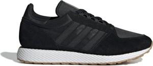 Czarne buty sportowe Adidas z nubuku sznurowane