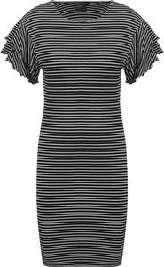 Sukienka Armani Jeans mini z okrągłym dekoltem w stylu casual