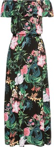 Sukienka bonprix BODYFLIRT z krótkim rękawem w stylu boho maxi