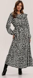 Czarna sukienka Renee maxi z długim rękawem