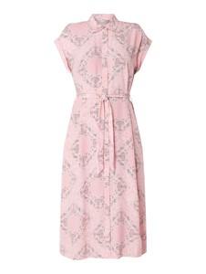 Różowa sukienka Jake*s Collection koszulowa
