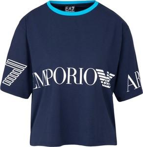 T-shirt EA7 Emporio Armani z krótkim rękawem w młodzieżowym stylu
