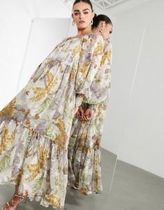 Sukienka Asos z dekoltem w kształcie litery v z długim rękawem oversize