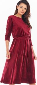 Czerwona sukienka Awama z tiulu