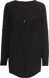 Koszula bonprix BODYFLIRT z dekoltem w kształcie litery v w stylu casual z długim rękawem