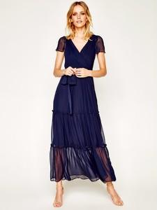 Niebieska sukienka DKNY z krótkim rękawem