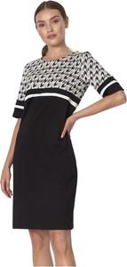 Czarna sukienka Nife z okrągłym dekoltem mini z bawełny