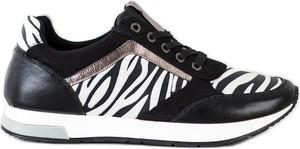 Czarne buty sportowe Kylie ze skóry ekologicznej
