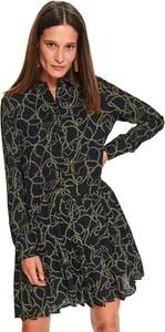 Sukienka Top Secret z kołnierzykiem koszulowa mini