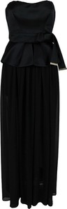 Czarna sukienka Elisabetta Franchi maxi