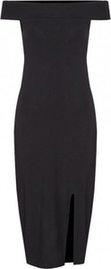 Czarna sukienka Kasia Miciak design z krótkim rękawem z odkrytymi ramionami