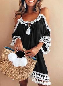 Sukienka Cikelly hiszpanka w stylu boho mini