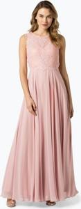 Sukienka Marie Lund bez rękawów maxi z szyfonu