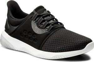 Czarne buty sportowe asics w sportowym stylu ze skóry ekologicznej sznurowane