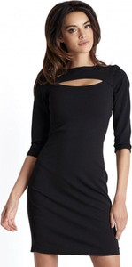 Czarna sukienka Ivon mini z tkaniny