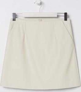 Spódnica Sinsay mini ze skóry ekologicznej
