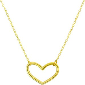 Manoki Minimalistyczny naszyjnik z serduszkiem, kolor złoty