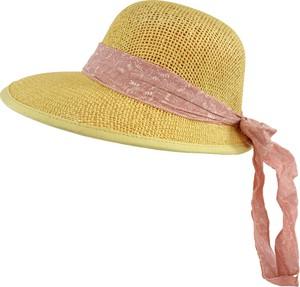 Jk collection kapelusz letni. - różowy || cappucino