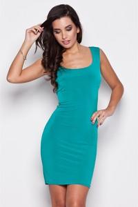 Niebieska sukienka Katrus mini dopasowana