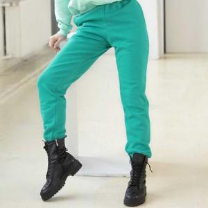 Zielone spodnie Dreskod z dzianiny