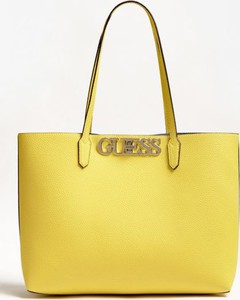 Żółta torebka Guess duża w wakacyjnym stylu