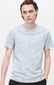 Niebieski t-shirt Reserved w stylu casual z krótkim rękawem